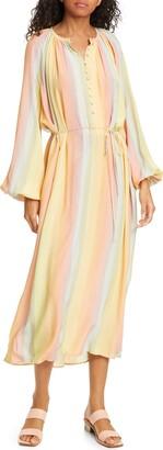 Stine Goya Elia Rainbow Tie Waist Midi Dress