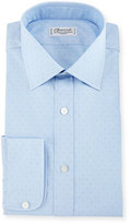 Charvet Pin Dot Dress Shirt, Blue