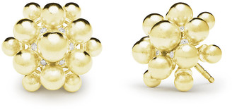 Paul Morelli 18k Orbit Bead Stud Earrings w/ Diamonds