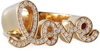 Sydney Evan 14k Diamond Love Script Ring, Size 7