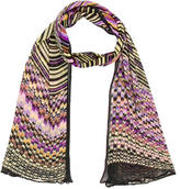 Missoni Abstract Print Open Knit Scarf