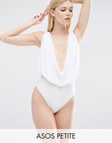 Asos Cowl Neck Swimsuit