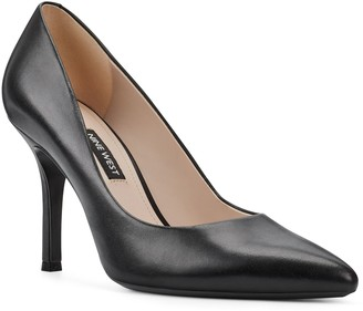 Nine West Slip-On Leather Pointy Toe Pumps - Fifth
