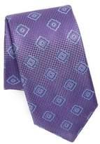 Canali Pattern Square Silk Tie