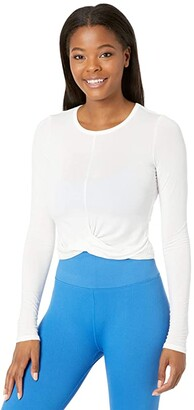 Spiritual Gangster Muse Twist Front Long Sleeve (Black) Women's Clothing
