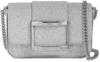 Roger Vivier Micro Tres Vivier Glittered Bag