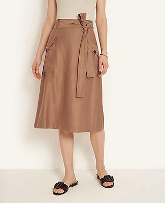 Ann Taylor Cargo Midi Skirt