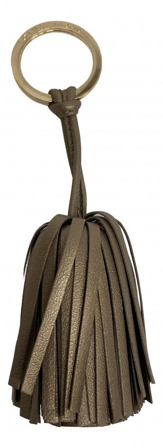 Loewe Gold Leather Bag charms