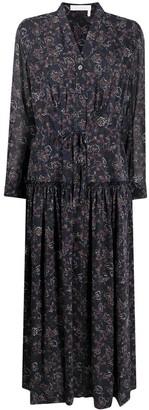 Chloé floral-print V-neck shirtdress
