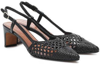 Souliers Martinez Exclusive to Mytheresa a Bizkaia woven leather pumps