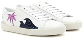 Saint Laurent Court Classic SL/06 Sea, Sex & Sun embellished leather sneakers