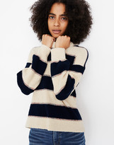Madewell Striped Lakeville Pullover Sweater