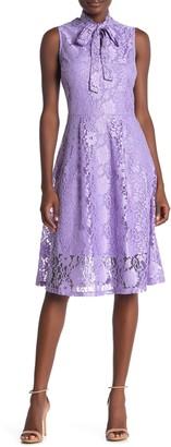 Alexia Admor Luna Lace Fit & Flare Midi Dress