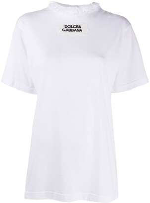 Dolce & Gabbana ruffle-collar short-sleeve T-shirt