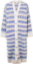 Stella McCartney stripe patterned longline cardigan