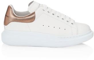Alexander McQueen Metallic Leather Platform Sneakers
