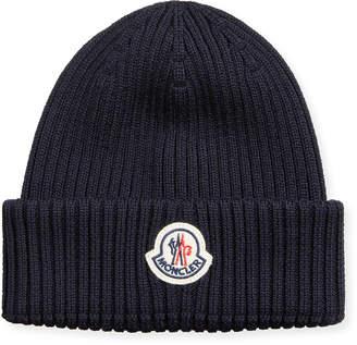 Moncler Men's Berretto Logo-Patch Beanie Hat