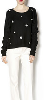 Endless Rose Black Flower Sweater