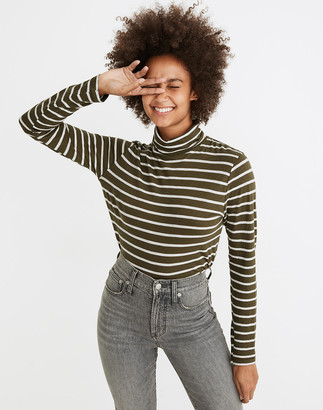Madewell Whisper Cotton Turtleneck in Esme Stripe
