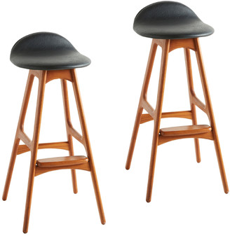 Rejuvenation Pair of Mid-Century Stools by Erik Buch
