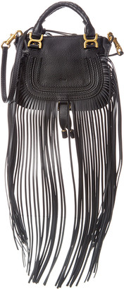 Chloé Marcie Fringe Leather Satchel