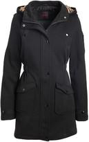 Yoki Womens Plus Size Double Breast Textured Wool Jacket