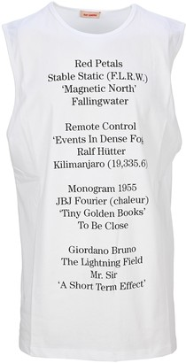 Raf Simons Printed Text Tank Top