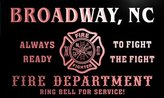 AdvPro Name qy61996-r FIRE DEPT BROADWAY, NC NORTH CAROLINA Firefighter Neon Sign
