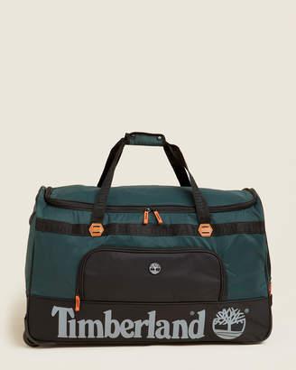 """Timberland 30"""" Green & Black Highgate Wheeled Duffel"""