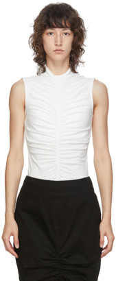 Edit SSENSE Exclusive White Sleeveless Ruch Front T-Shirt