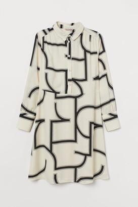H&M H&M+ Shirt Dress - Beige