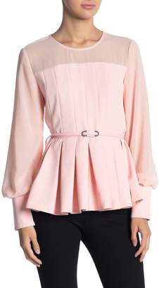 Gracia Chiffon Sleeve Pleated Blouse