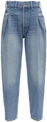 RE/DONE 40s Zzt Pleated Cotton Denim Jeans