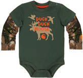 Carhartt Olive & Realtree Xtra® 'Duck Duck' Layer-Sleeve Bodysuit- Infant