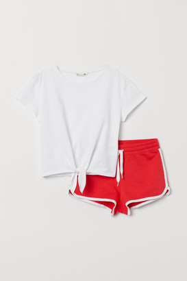 H&M Top and Shorts - Red