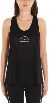 Karl Lagerfeld Paris Logo Print Tank Top