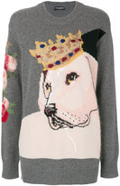 Dolce & Gabbana royalty dog knitted pullover
