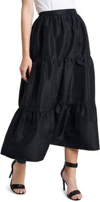 Vince Camuto Iridescent Tiered Taffeta Skirt