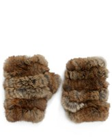 Jocelyn Genuine Rabbit Fur Fingerless Mittens