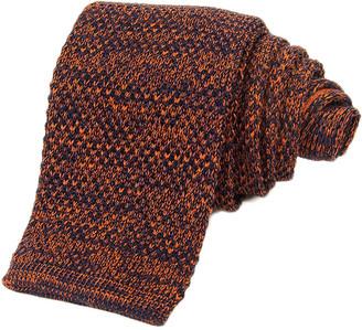Melange Home 40 Colori Rust Wool & Silk Knitted Tie