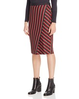 Max Mara Candore Asymmetric Stripe Pencil Skirt