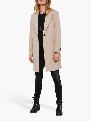 Mint Velvet Wool Blend Boyfriend Coat, Natural Beige