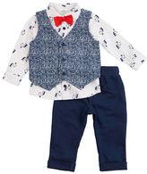 Petit Lem Baby Boys Three-Piece Cardigan, Shirt and Pants Set
