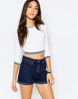 Jack Wills Cable Stitch Sweater With Navy Tipping