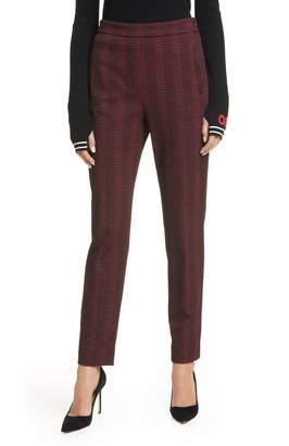HUGO Hanette Plaid Ankle Pants