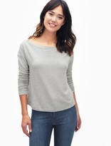 Splendid Super Soft Brushed French Terry Slouchy Boatneck Top