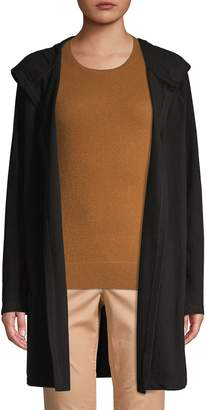 Saks Fifth Avenue Cotton Blend Hooded Cardigan
