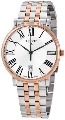 Tissot Carson Premium Silver Dial Men's Two Tone Watch T122.410.22.033.00