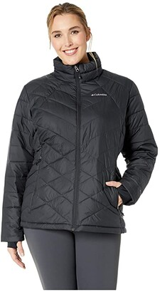 Columbia Plus Size Heavenlytm Jacket (Black) Women's Coat
