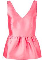 P.A.R.O.S.H. peplum tank - women - Polyester/Silk/Acetate/Viscose - S